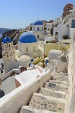Oia, Santorini (Thira), Greece - island white and blue Royalty Free Stock Photography