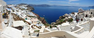 Oia Santorini (Thira) Greece - panoramic view Stock Image