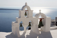 Oia Santorini Tower Bell Royalty Free Stock Photo