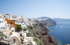 Oia, Santorini. View of Oia town in Santorini Greece, Cyclades Royalty Free Stock Images