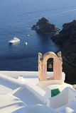 Oia at Santorini. White house and and bell tower in Oia. Santorini Royalty Free Stock Images