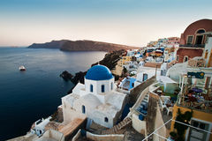 Oia Santorini wide shot Royalty Free Stock Photo