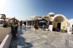 Oia. Scene in the streets of Oia in Santorini Royalty Free Stock Photography