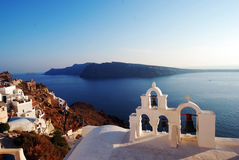 Oia sea view in Santorini island, Greece Stock Image