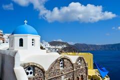 Oia stad op Santorini-eiland Royalty-vrije Stock Afbeeldingen