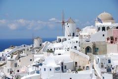 Oia stad - Santorini   Royalty-vrije Stock Afbeeldingen