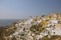 Oia-Stadt, Santorini Lizenzfreies Stockbild