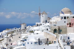 Oia-Stadt - Santorini   Lizenzfreie Stockbilder