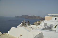 Oia sull'isola di Santorini Immagini Stock Libere da Diritti