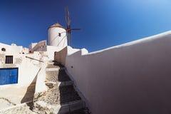 Oia sull'isola di Santorini La Grecia OIA Argilla bianca, costruzioni bianche Fotografia Stock Libera da Diritti