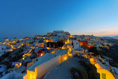 Oia at sunrise Stock Images