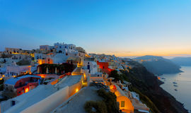 Oia before sunrise Royalty Free Stock Photos