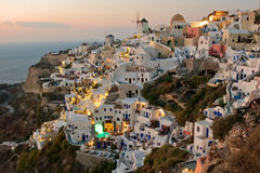 Oia at sunset. Santorini, Greece Royalty Free Stock Photography