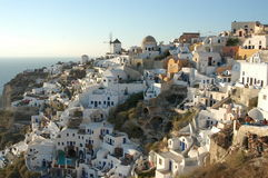 Oia at sunset stock image
