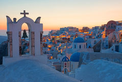 Oia after sunset Stock Image