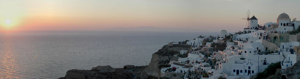 Oia sunset (30 MP image) Royalty Free Stock Image