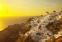Oia at sunset, Santorini Royalty Free Stock Photography