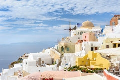 Oia before sunset at Santorini, Greece Stock Images