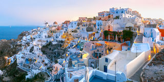 Oia at sunset, Santorini, Greece Royalty Free Stock Photography