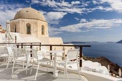 Oia before sunset at Santorini, Greece Royalty Free Stock Photos