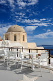 Oia before sunset at Santorini, Greece Royalty Free Stock Images