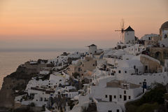 Oia at sunset Stock Photos