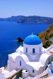 Oia sur l'île de Santorini Photo libre de droits