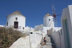 Oia sur l'île de Santorini Photos libres de droits