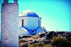 Oia sur l'île de Santorini Photographie stock