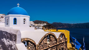 Oia sur l'île de Santorini La Grèce Images libres de droits