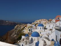 Oia top view stock image
