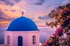 Oia town, Santorini Cyclade islands, Greece royalty free stock photography