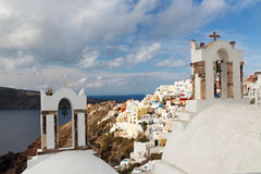 The Oia Town in santorini Stock Photography