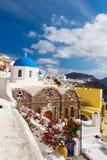 The Oia Town in santorini Royalty Free Stock Photos