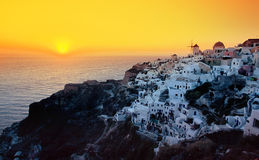 Oia town , Santorini island, Greece Stock Photos