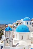 Oia town on Santorini island, Greece Royalty Free Stock Photo