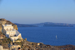 Oia town on Santorini island Royalty Free Stock Photos
