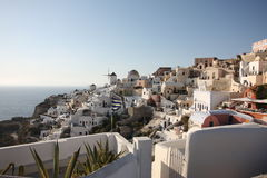 Oia town. Santorini island Royalty Free Stock Photos