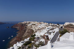 Oia town on Santorini Stock Image