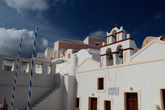 The Oia Town in santorini Stock Photo