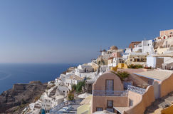 Oia town on Santorini Stock Images