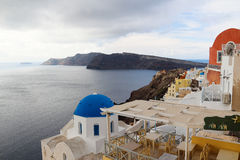 The Oia Town in santorini Royalty Free Stock Images