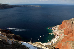The grand gulf of the Oia Town in santorini Royalty Free Stock Image