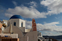 The Oia Town in santorini Royalty Free Stock Image