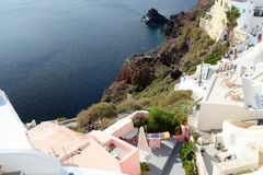 The Oia Town in santorini Stock Image