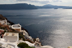 The Oia Town in santorini Royalty Free Stock Photo