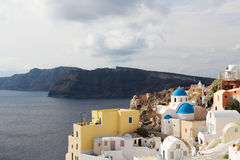 The Oia Town in santorini Royalty Free Stock Photography