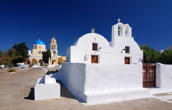 Oia traditional church, Santorini Stock Images