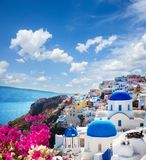 Oia, traditional greek village Royalty Free Stock Image