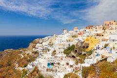 Oia, traditional greek village Stock Image